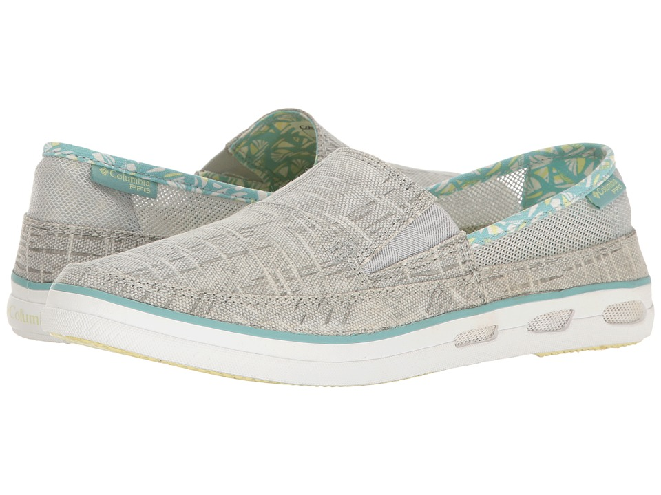 Columbia - Vulc N Vent Slip Outdoor PFG Print (Cool Grey/Spring Yellow) Women's Shoes
