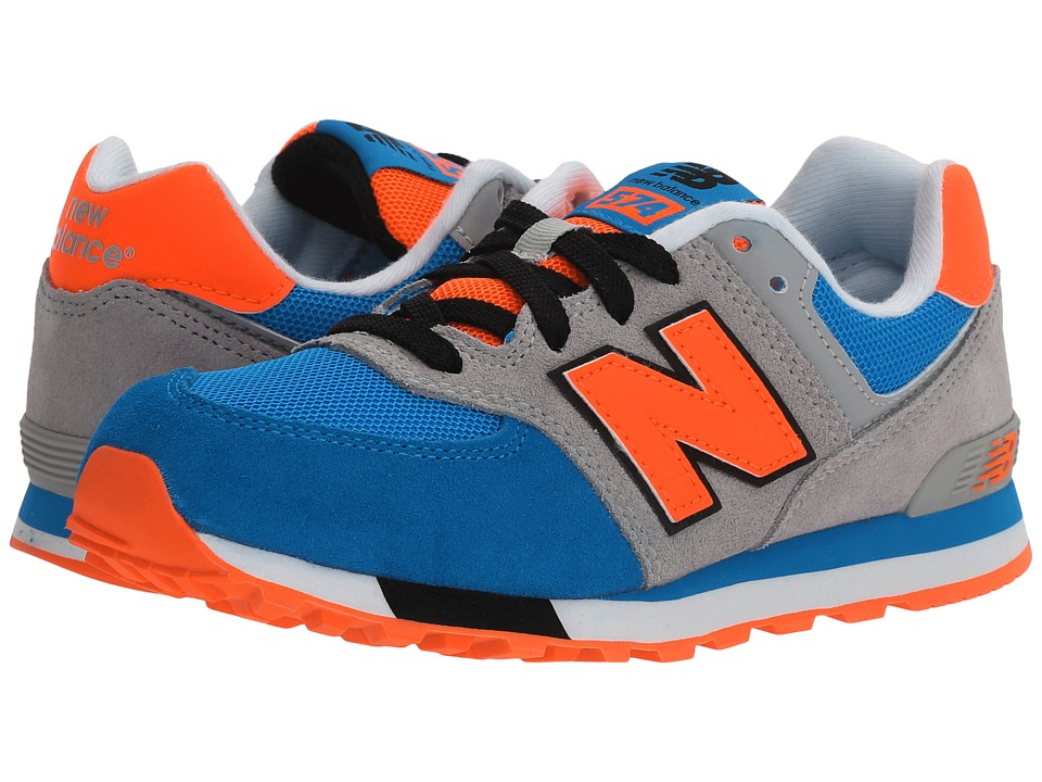 New Balance Kids KL574v1 (Big Kid) (Grey/Blue) Boys Shoes
