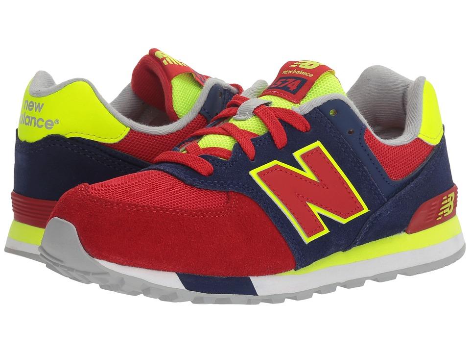 New Balance Kids - KL574v1 (Big Kid) (Blue/Red) Boys Shoes