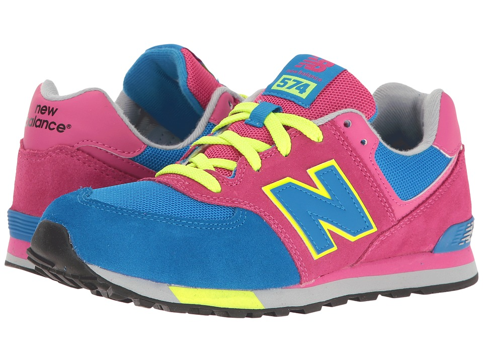 New Balance Kids - KL574v1 Cut Paste (Big Kid) (Pink/Blue) Girls Shoes