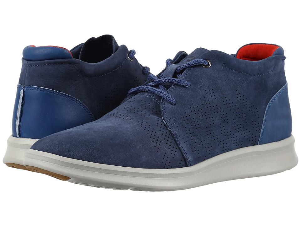 UGG - Larken Stripe Perf (Marino) Men's Lace up casual Shoes
