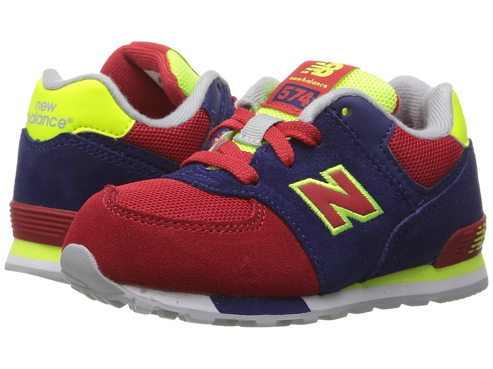New Balance Kids - KL574v1 Cut Paste (Little Kid) (Blue/Red) Boys Shoes