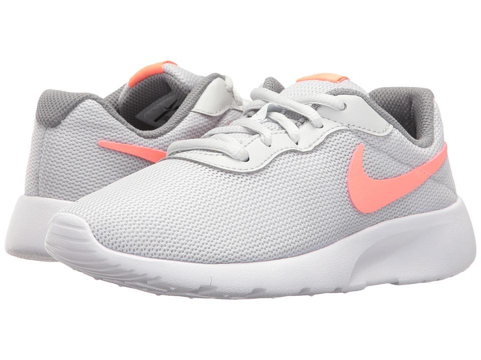Nike Kids - Tanjun (Little Kid) (Pure Platinum/Lava Glow/Cool Grey/White) Girls Shoes