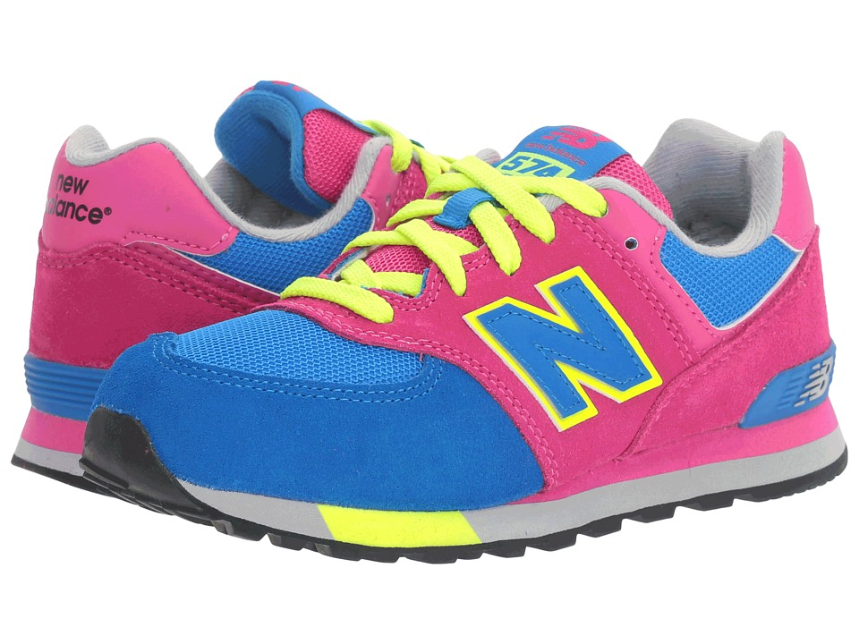 New Balance Kids - KL574v1 Cut Paste (Little Kid) (Pink/Blue) Girls Shoes