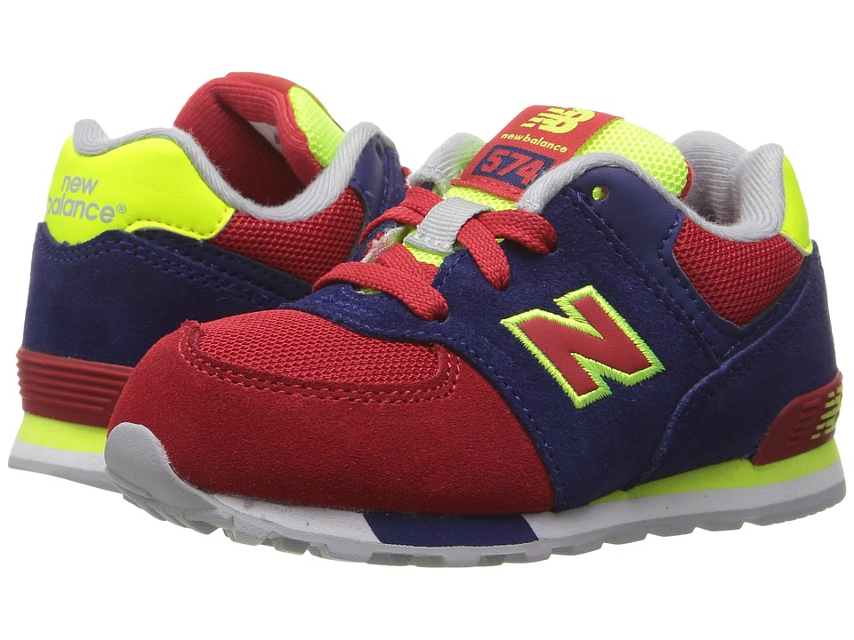 New Balance Kids - KL574v1 Cut Paste (Infant/Toddler) (Blue/Red) Boys Shoes