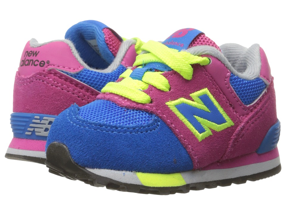 New Balance Kids - KL574v1 Cut Paste (Infant/Toddler) (Pink/Blue) Girls Shoes