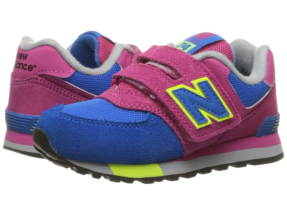 New Balance Kids - KV574v1 Cut Paste (Little Kid/Big Kid) (Pink/Blue) Girls Shoes