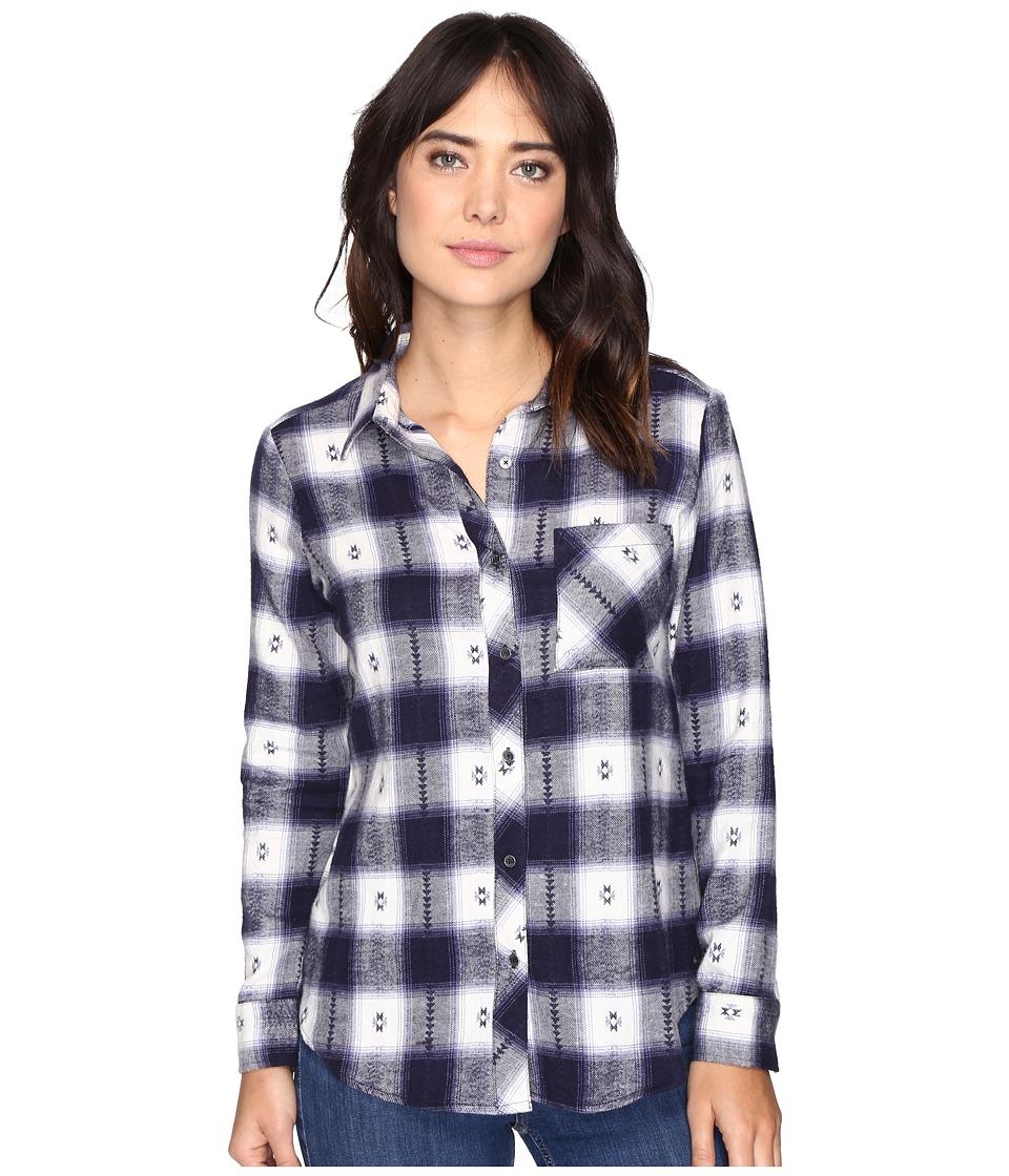 Rip Curl - Stardust Flannel Shirt (Navy) Women's Long Sleeve Button Up