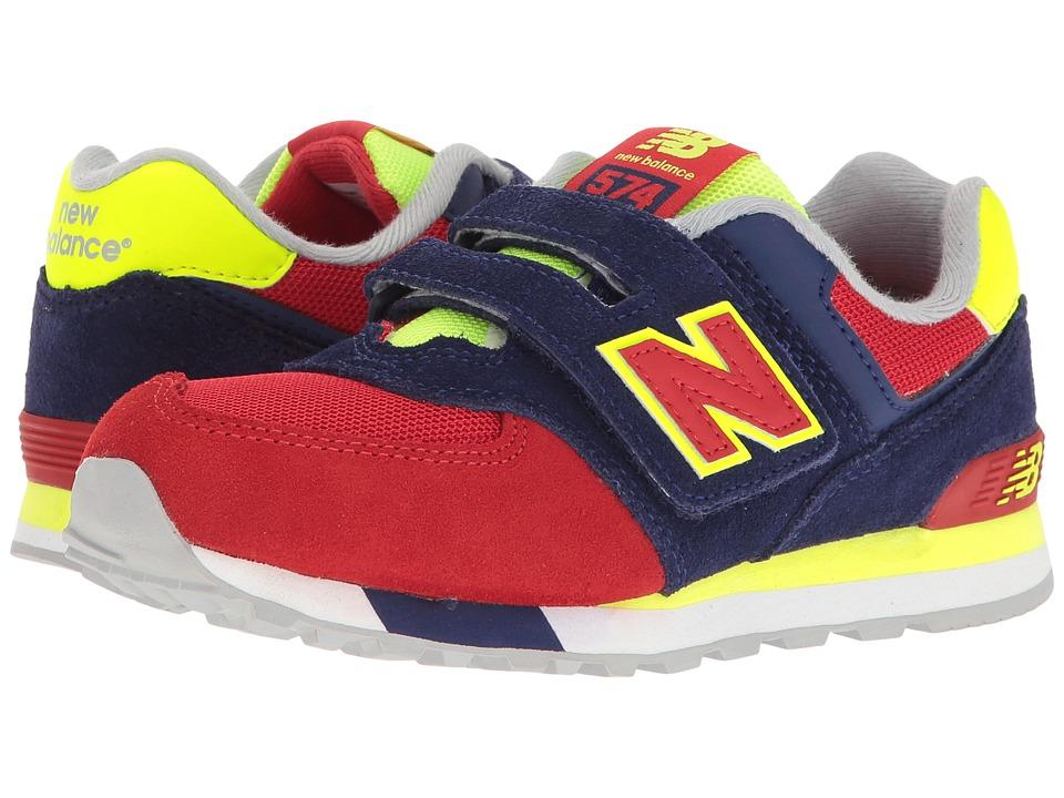 New Balance Kids - KV574v1 Cut Paste (Infant/Toddler) (Blue/Red) Boys Shoes