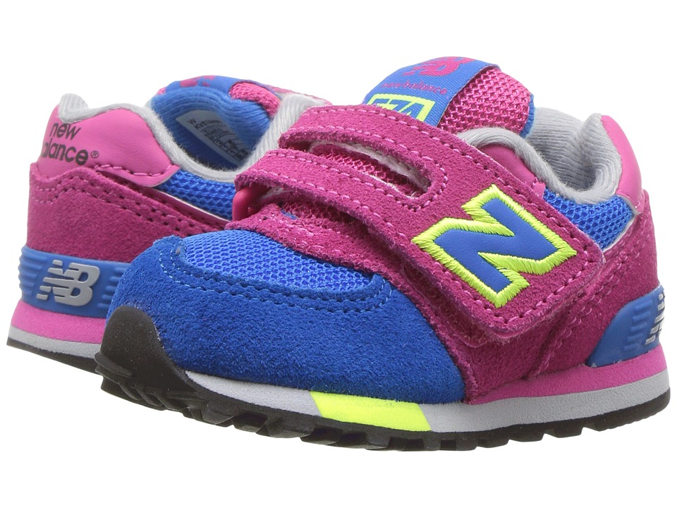 New Balance Kids - KV574v1 Cut Paste (Infant/Toddler) (Pink/Blue) Girls Shoes