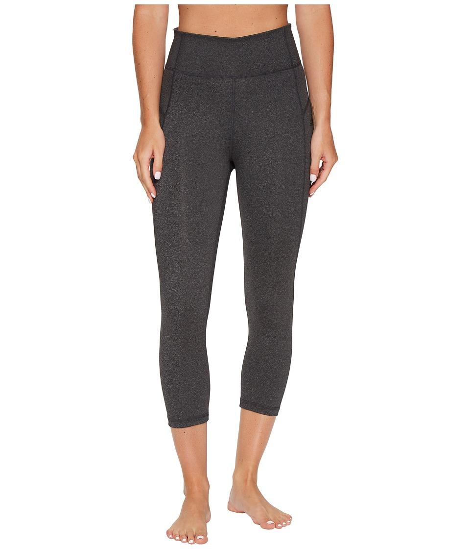 adidas Performer High-Rise 3/4 Tights (Dark Grey Heather/Black) Women