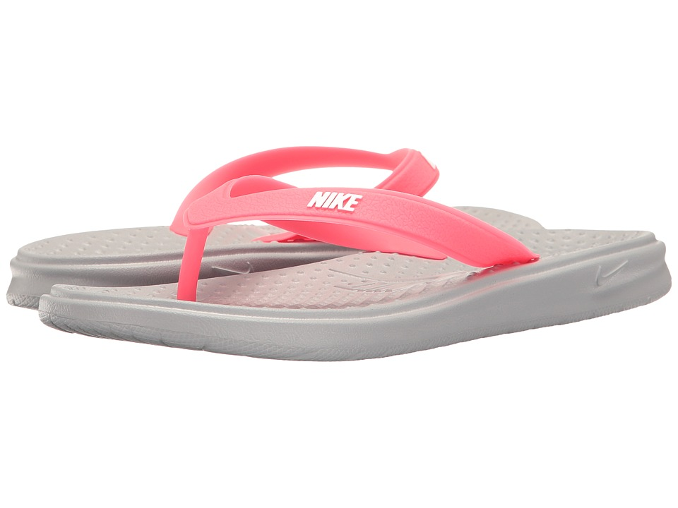 Nike Kids Solay Thong (Little Kid/Big Kid) (Wolf Grey/White/Racer Pink) Girls Shoes