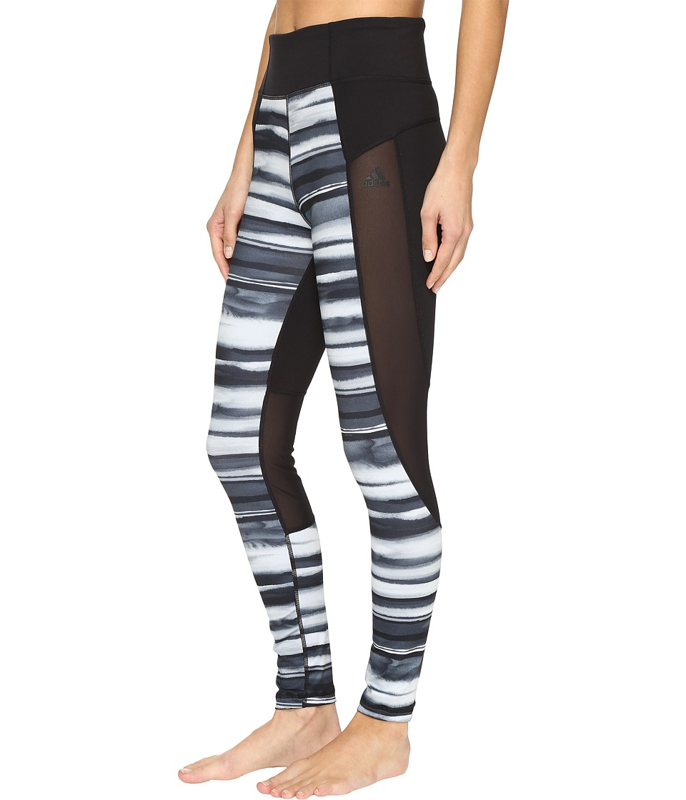 adidas - Performer High-Rise Oxidized Stripe (Black Print/Black) Women's Casual Pants