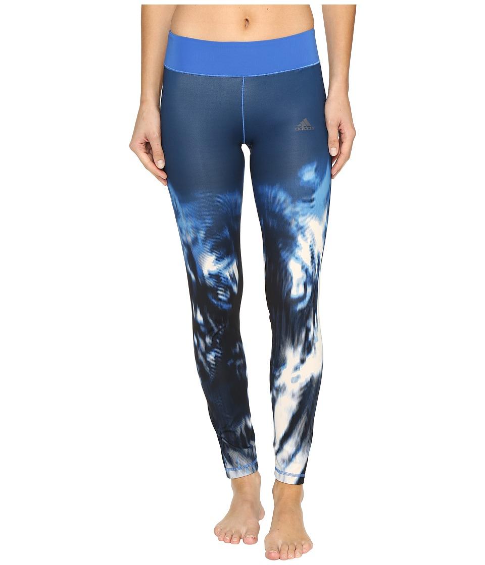 adidas Wow Drop 2 Tights (Blue Print/Blue) Women