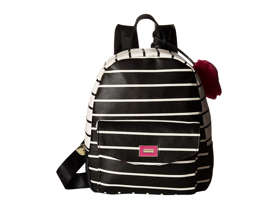 Betsey Johnson - Front Pocket Backpack (Stripe) Backpack Bags