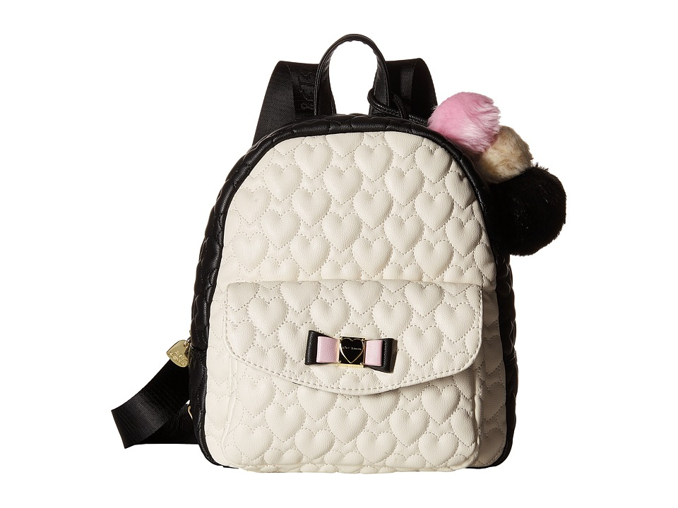 Betsey Johnson - Front Pocket Backpack (Bone) Backpack Bags