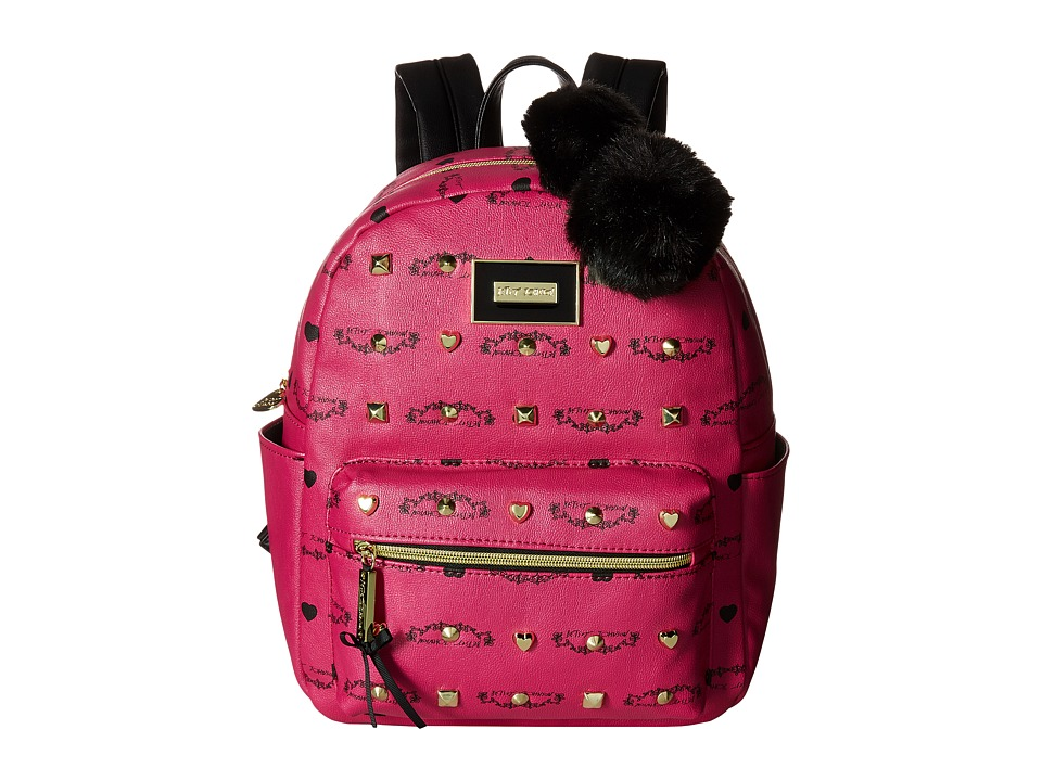 Betsey Johnson - Studded Backpack (Fuchsia) Backpack Bags