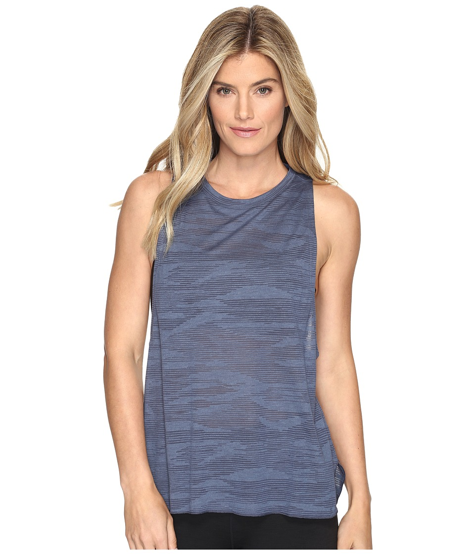 adidas - Boxy Tank - Aeroknit (Tactile Blue S17/Midnight Grey F15) Women's Sleeveless