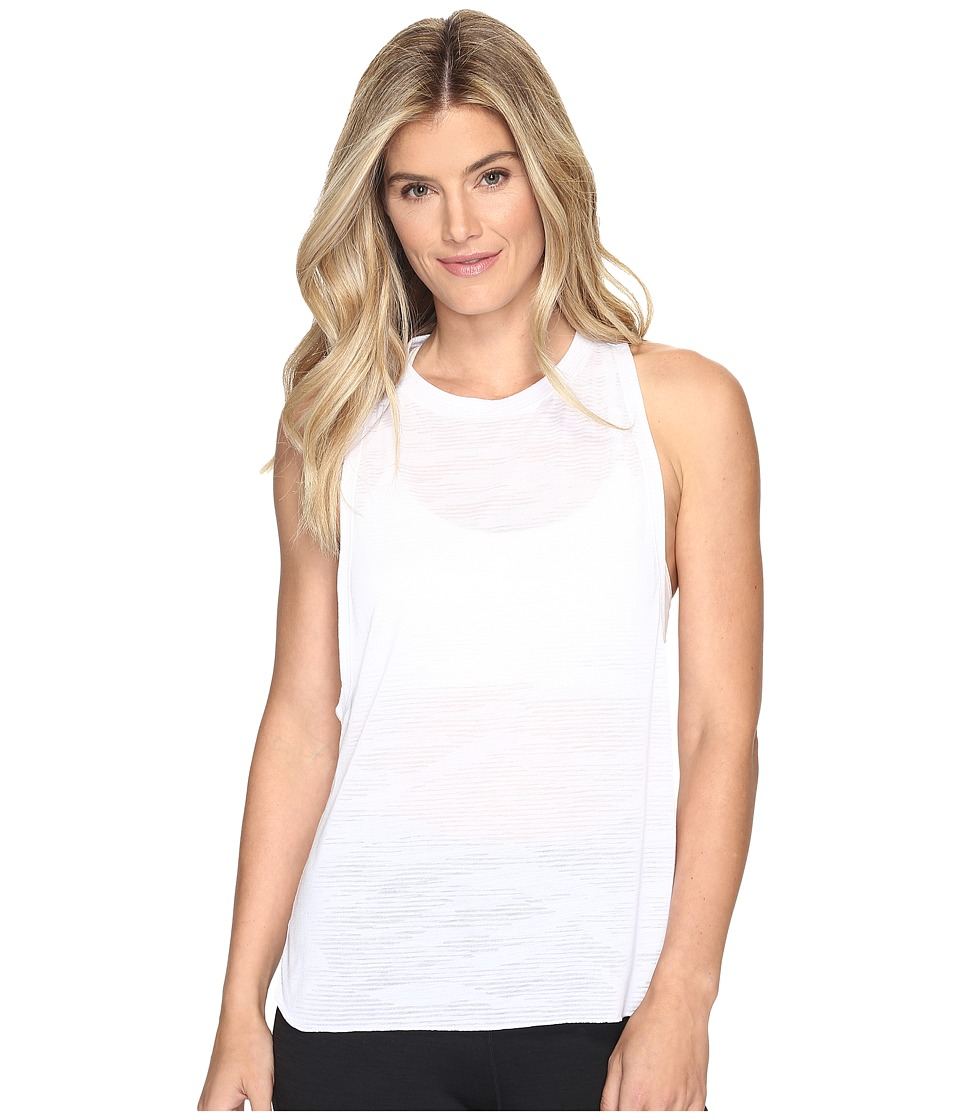 adidas - Boxy Tank - Aeroknit (White/Clear Onix) Women's Sleeveless