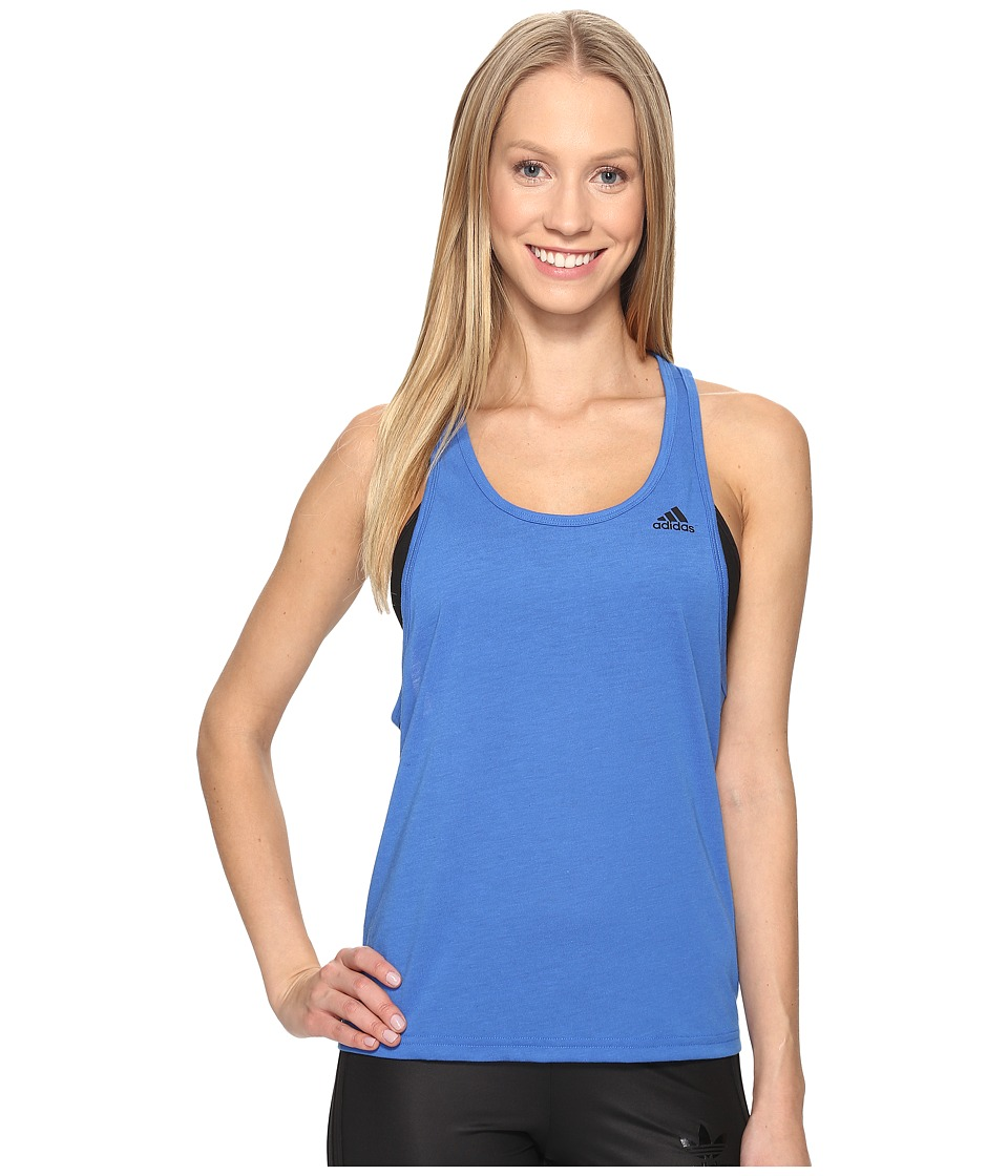 adidas - Ultimate Tank (Blue/Black) Women's Sleeveless