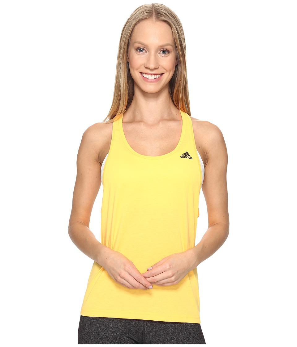 adidas - Ultimate Tank (Solar Gold/Black) Women's Sleeveless