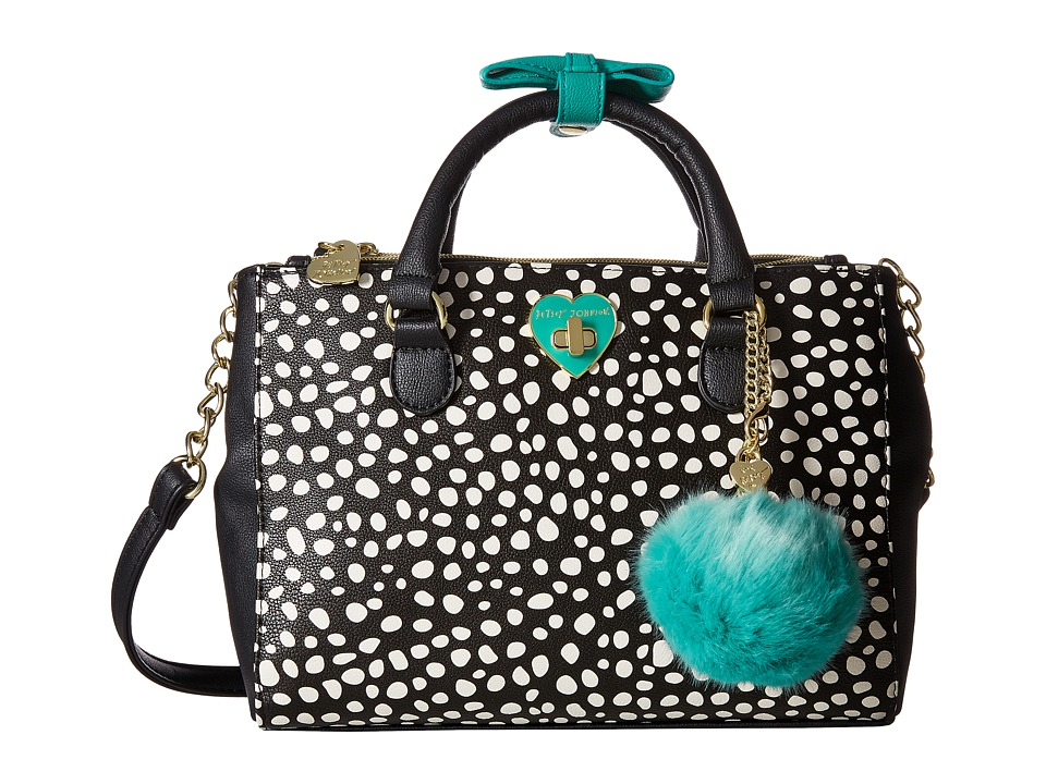Betsey Johnson - Four Compartment Satchel (Spot) Satchel Handbags