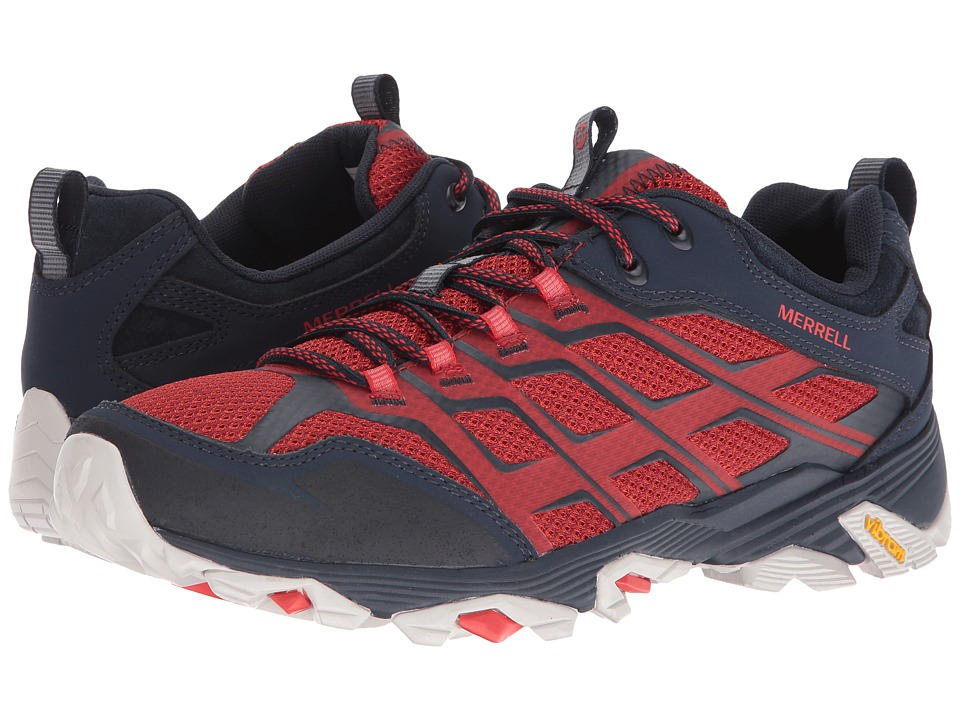Merrell - Moab FST (Navy/Dark Red) Men's Lace up casual Shoes