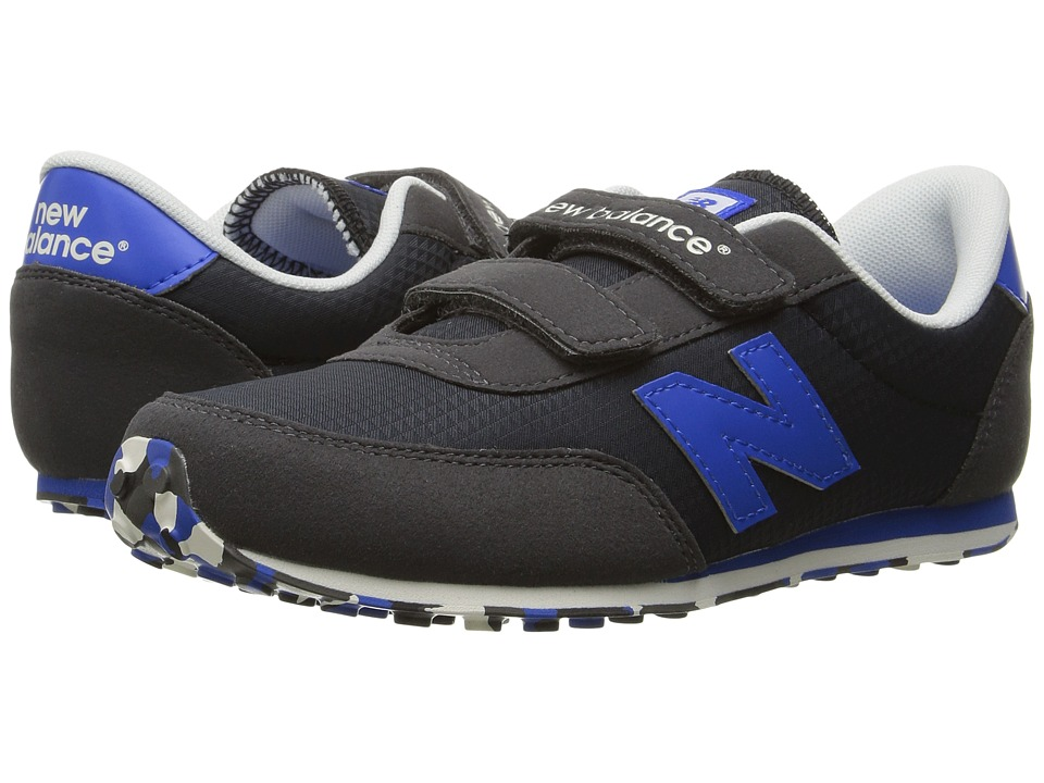 New Balance Kids - KE410v1 (Little Kid/Big Kid) (Black/Blue) Boys Shoes