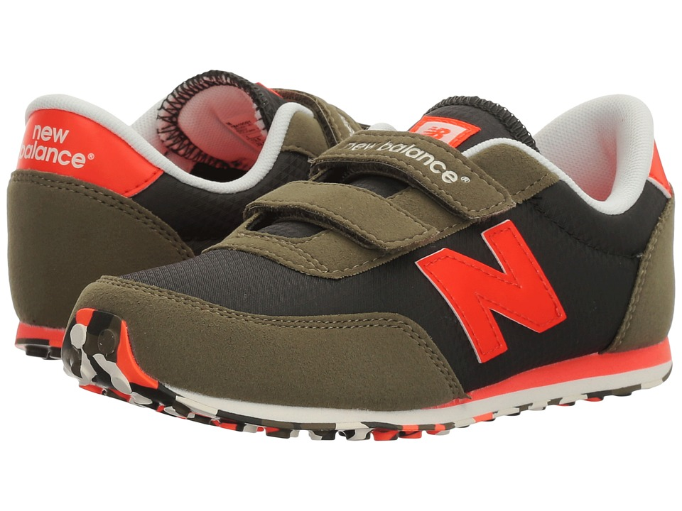 New Balance Kids - KE410v1 (Little Kid/Big Kid) (Green/Orange) Boys Shoes