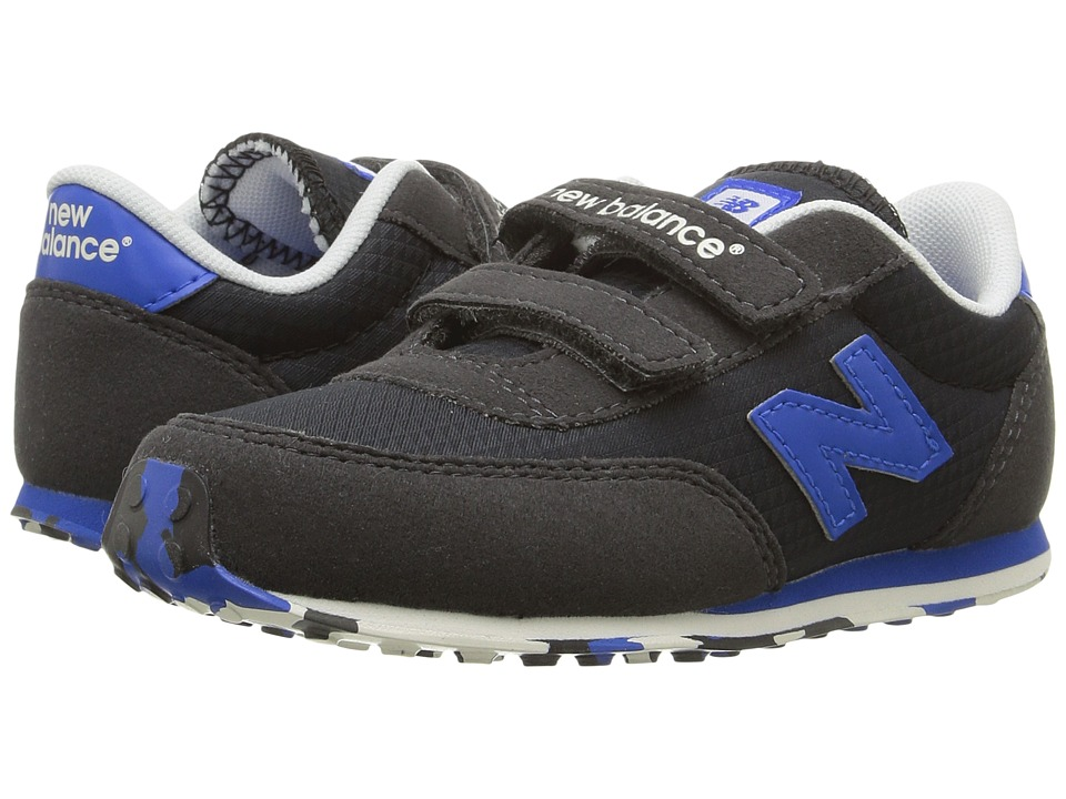 New Balance Kids - KE410v1 (Infant/Toddler) (Black/Blue) Boys Shoes