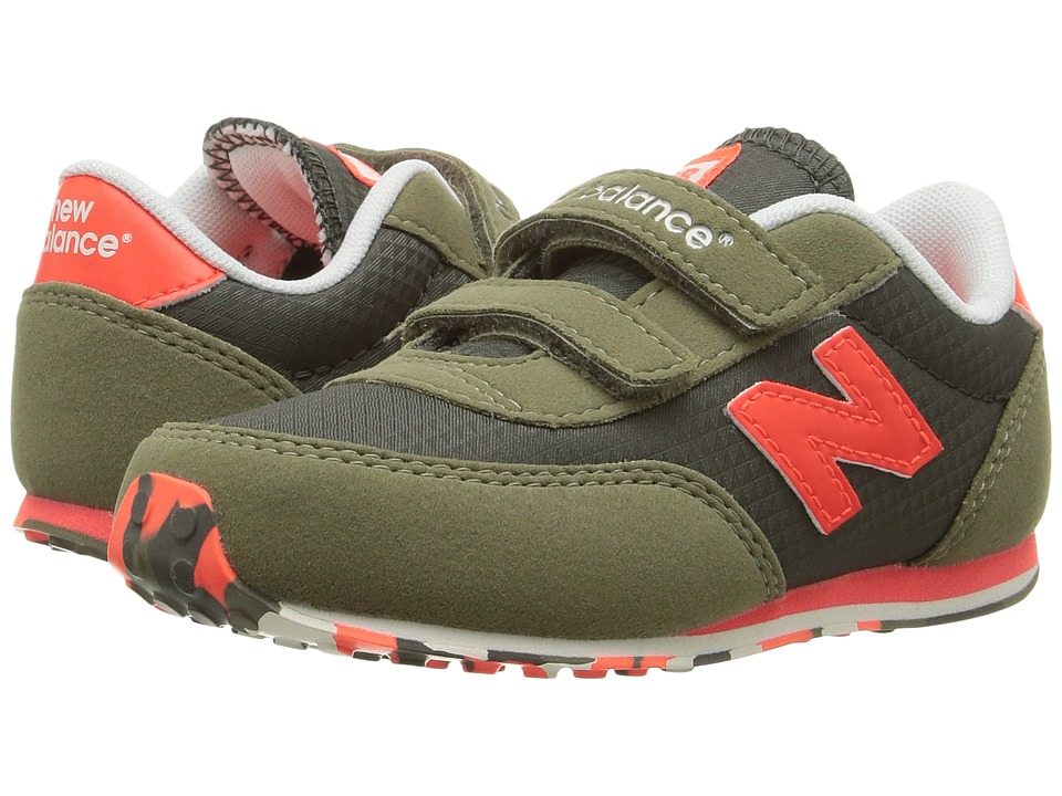New Balance Kids KE410v1 (Infant/Toddler) (Green/Orange) Boys Shoes