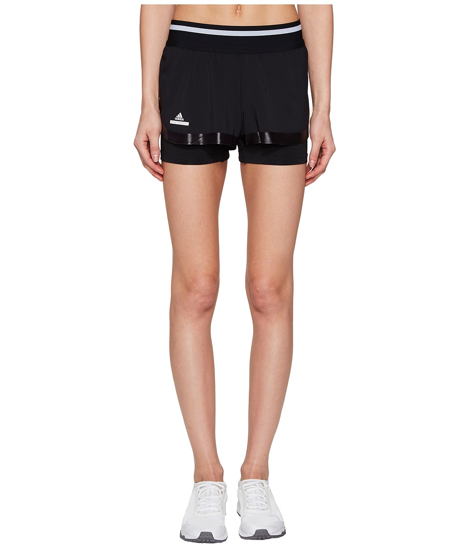 adidas - Stella Barricade Tennis Shorts (Black/White) Women's Shorts