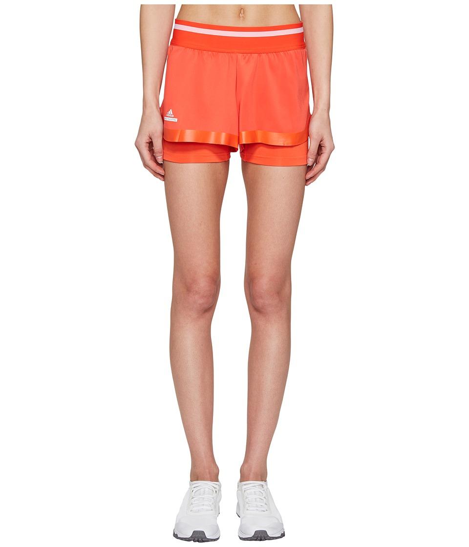 adidas - Stella Barricade Tennis Shorts (Bright Red/White) Women's Shorts