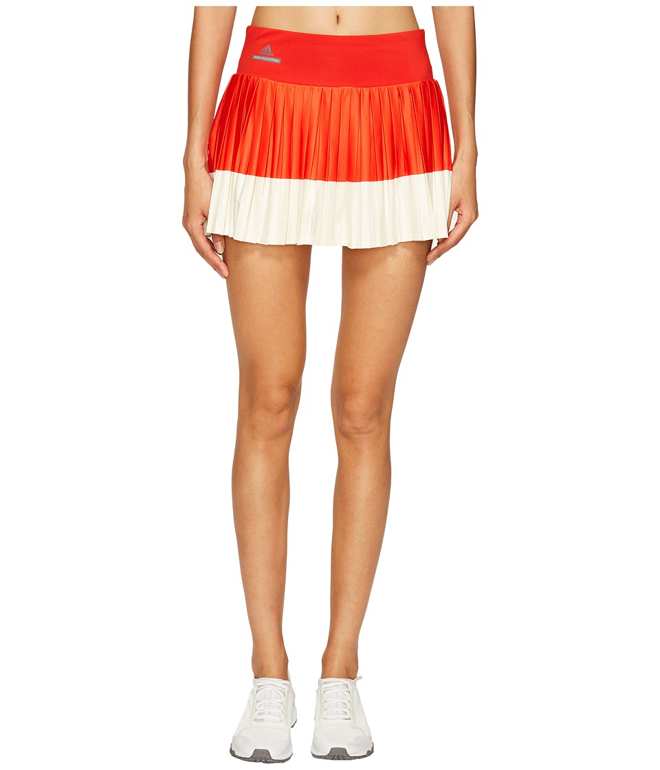 adidas - Stella Barricade Tennis Skirt (Red/Cream White) Women's Skort
