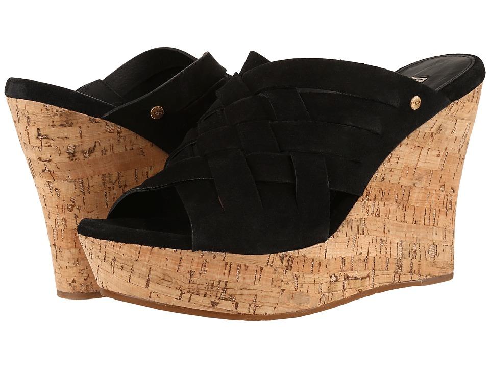 UGG - Marta (Black) Women's Wedge Shoes