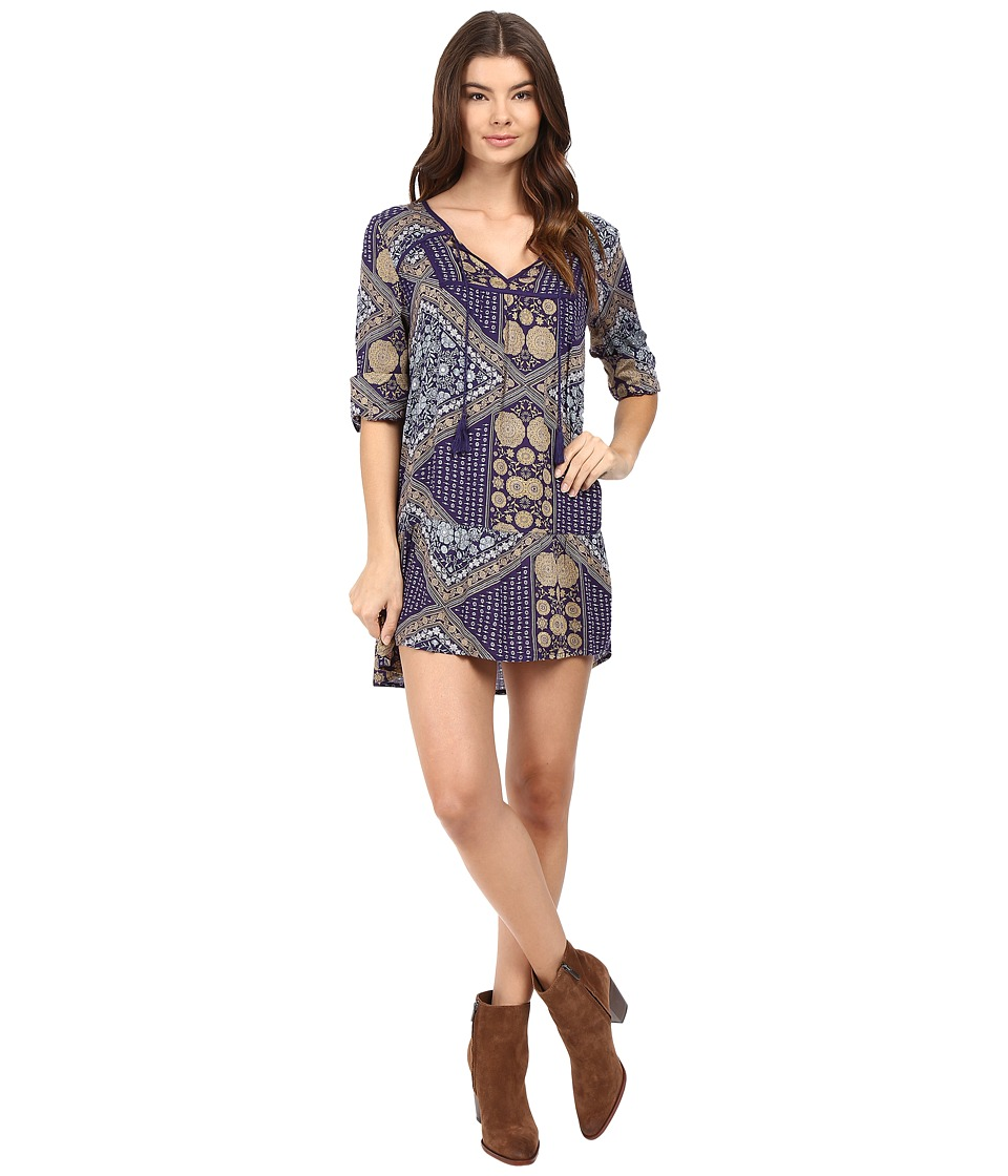 Roxy - Lucky Blue Dress (Bohemian Behavior/Blue Print) Women's Dress