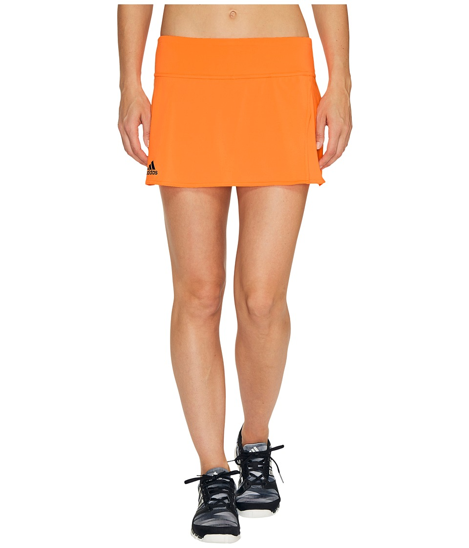 adidas - Melbourne Line Skirt (Glow Orange/Mystery Blue) Women's Skort