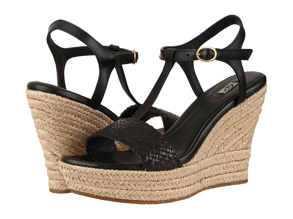 UGG - Fitchie II (Black) Women's Wedge Shoes