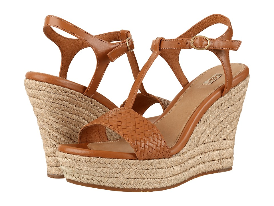 UGG - Fitchie II (Chestnut) Women's Wedge Shoes