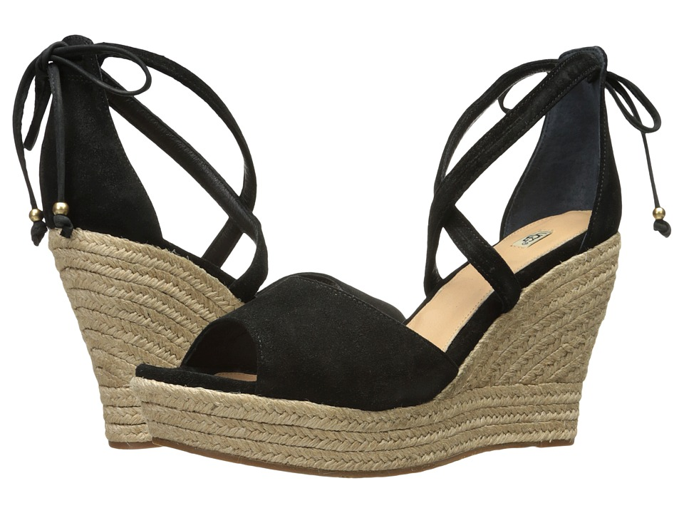UGG - Reagan (Black) Women's Wedge Shoes