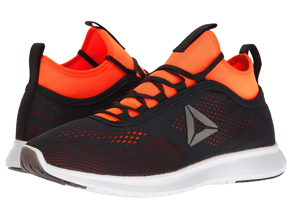 Reebok - Plus Runner Tech (Lead/Wild Orange/White) Men's Running Shoes
