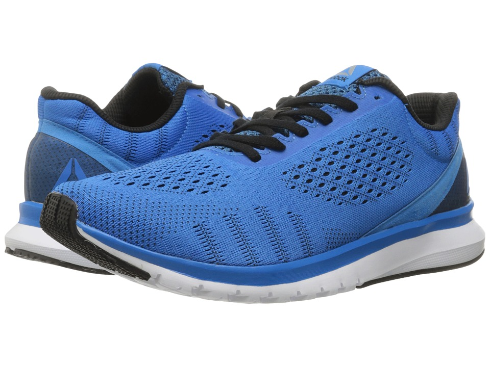 Reebok - Print Run Smooth ULTK (Horizon Blue/Black/White) Men's Running Shoes