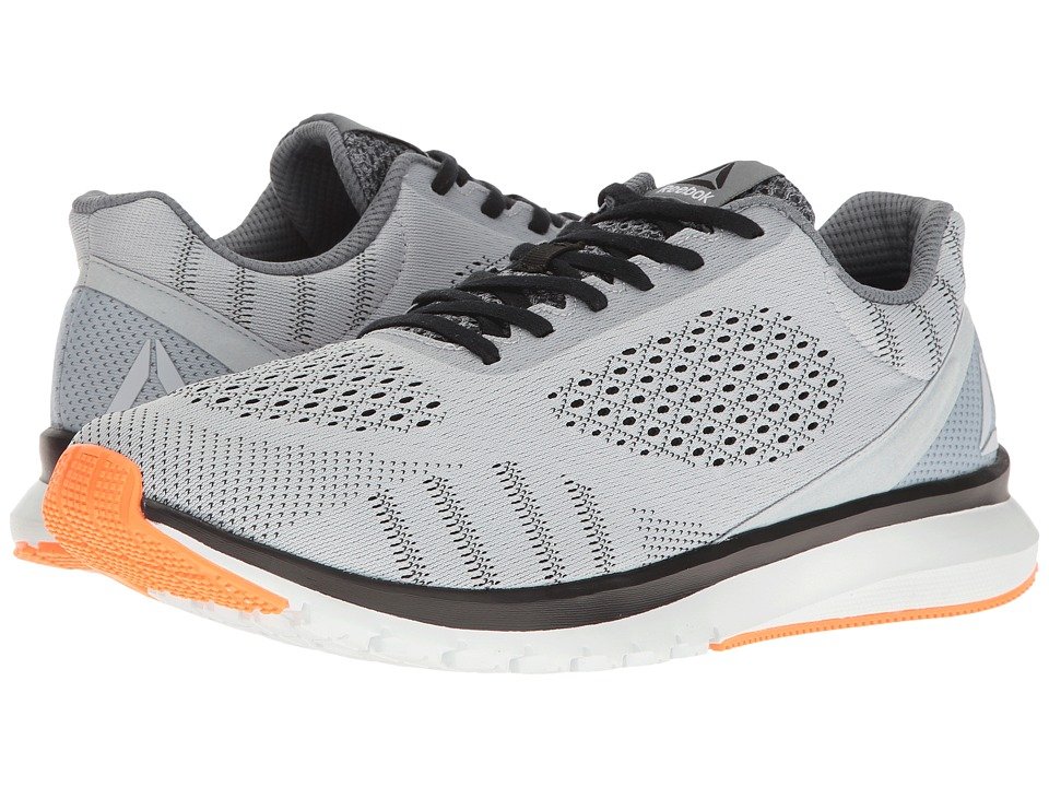 Reebok - Print Run Smooth ULTK (Cloud Grey/Black/Polar Blue/Wild Orange) Men's Running Shoes