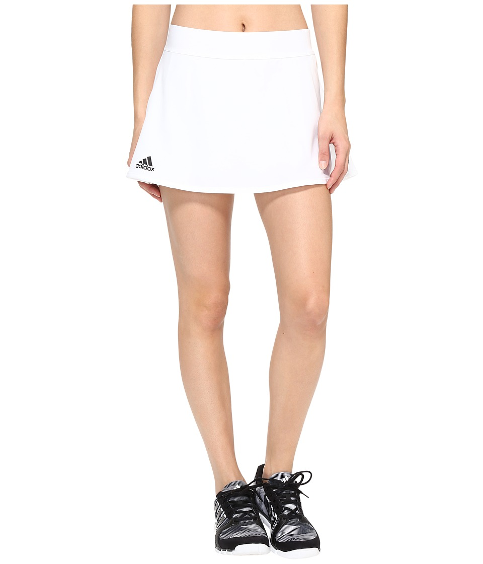 adidas - Club Skirt (White/Black) Women's Skirt