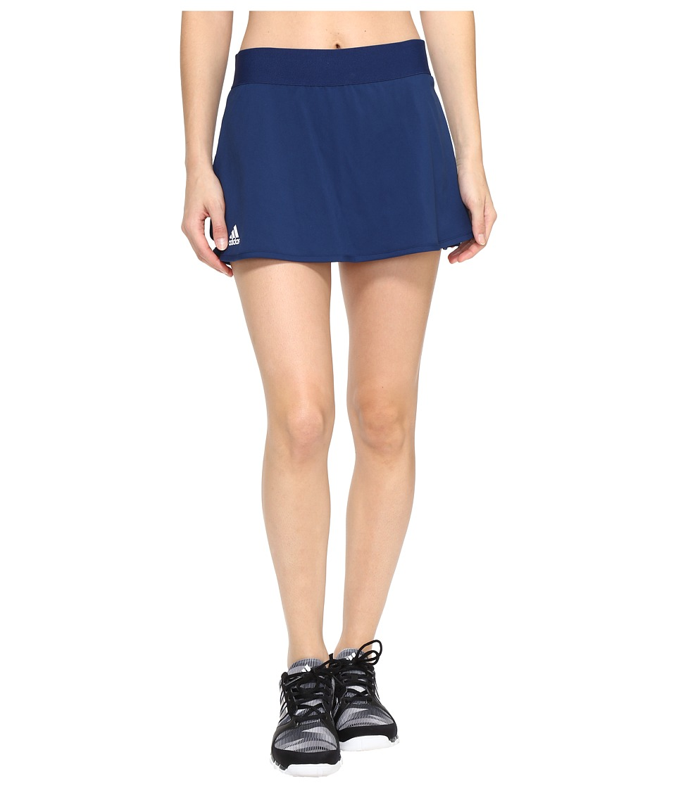 adidas - Club Skirt (Mystery Blue/White) Women's Skirt