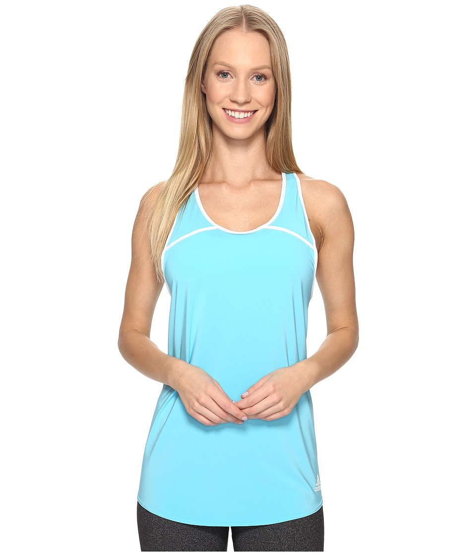 adidas - Club Tank (Samba Blue/White) Women's Sleeveless