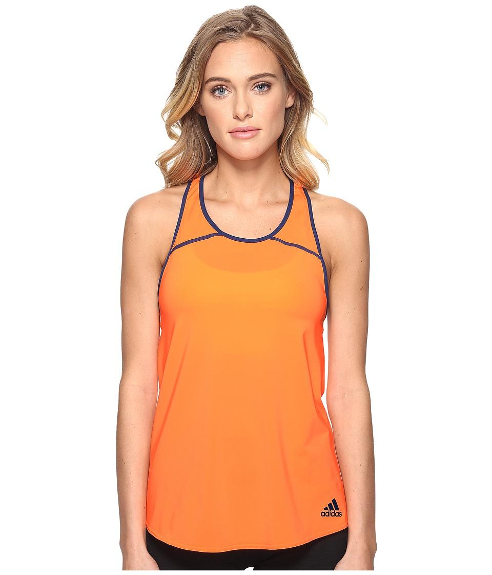 adidas - Club Tank (Glow Orange/Mystery Blue) Women's Sleeveless