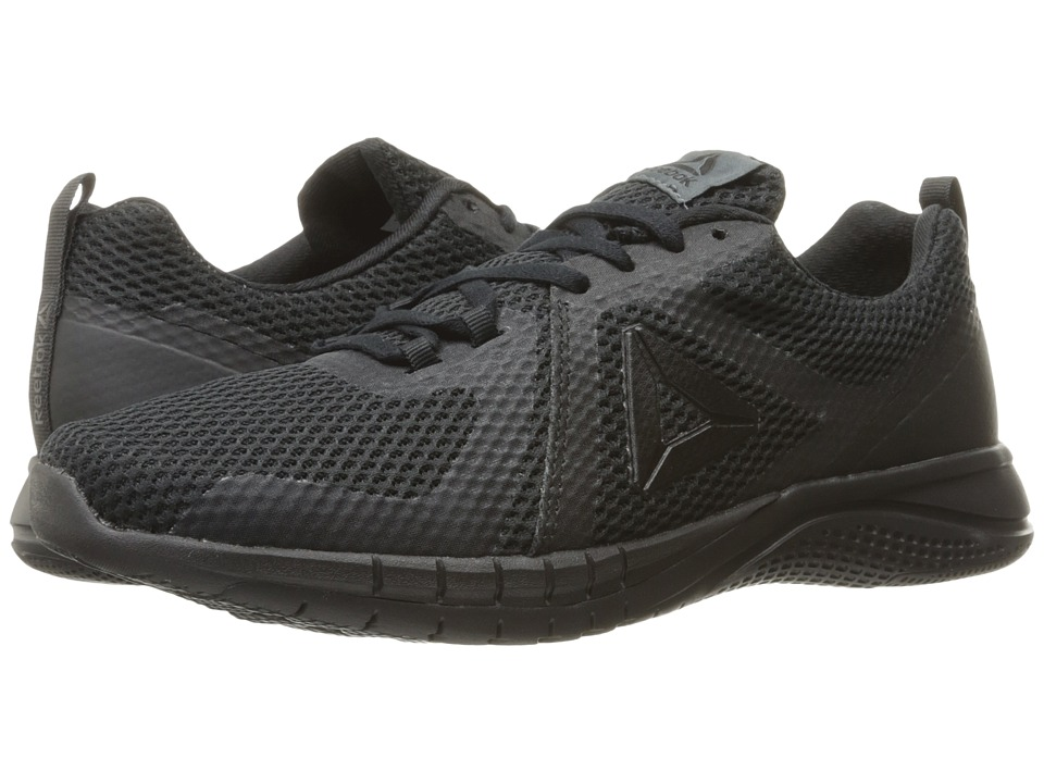 Reebok - Print Run 2.0 (Black/Lead) Men's Running Shoes