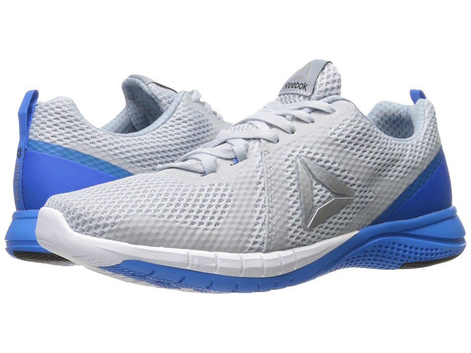 Reebok - Print Run 2.0 (Cloud Grey/Horizon Blue/Awesome Blue/White/Silver) Men's Running Shoes