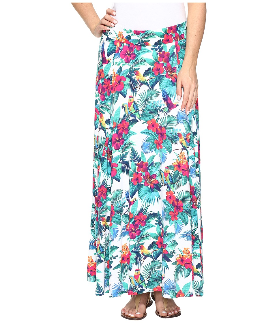 Tommy Bahama Jungle Florida Midi Skirt (Bright White) Women